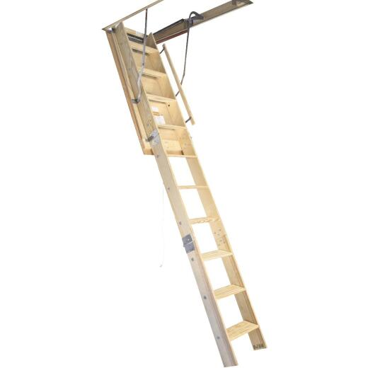 Louisville Champion 7 Ft. to 8 Ft. 9 In., 22-1/2 In. x 54 In. Wood Attic Stairs, 300 Lb. Load