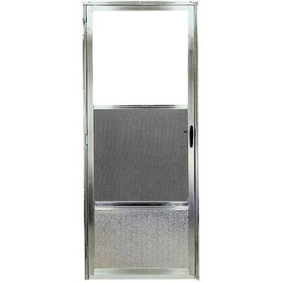 Croft Imperial Style 30 In. W. x 80 In. H. x 1 In. Thick Mill Self-Storing Aluminum Storm Door