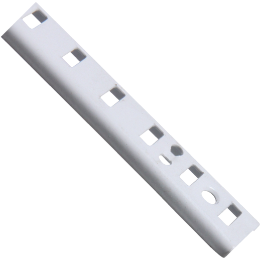 Knape & Vogt 255 Series 60 In. White Steel Mortise-Mount Pilaster Shelf Standard