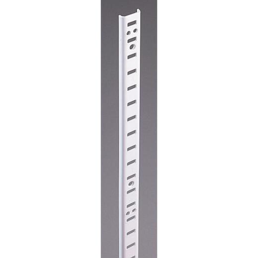 Knape & Vogt 255 Series 60 In. Zinc-Plated Steel Mortise-Mount Pilaster Shelf Standard