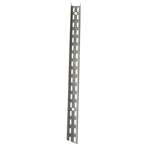 John Sterling Fast-Mount 72 In. Galvanized Steel Double-Slot Shelf Standard