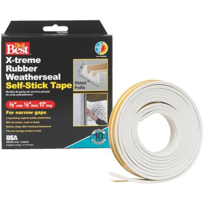 Do it Best 3/8 In. x 17 Ft. White Narrow Weatherseal Tape