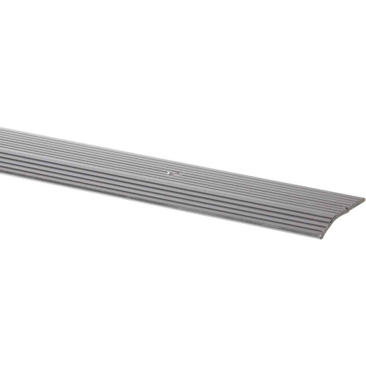 M-D Satin Silver Fluted 1-3/8 In. x 6 Ft. Aluminum Carpet Trim Bar, Wide