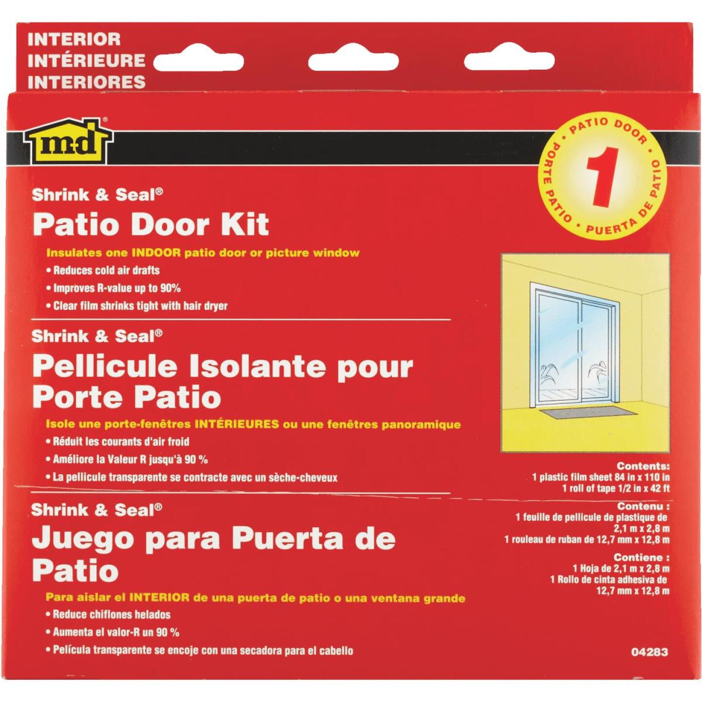 M-D Indoor 84 In. x 110 In. Patio Door or Picture Window Insulation Kit Image 1