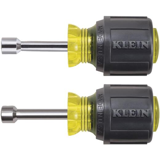 Klein Standard 1-1/2 In. Hollow Shaft Stubby Nut Driver Set, 2-Piece