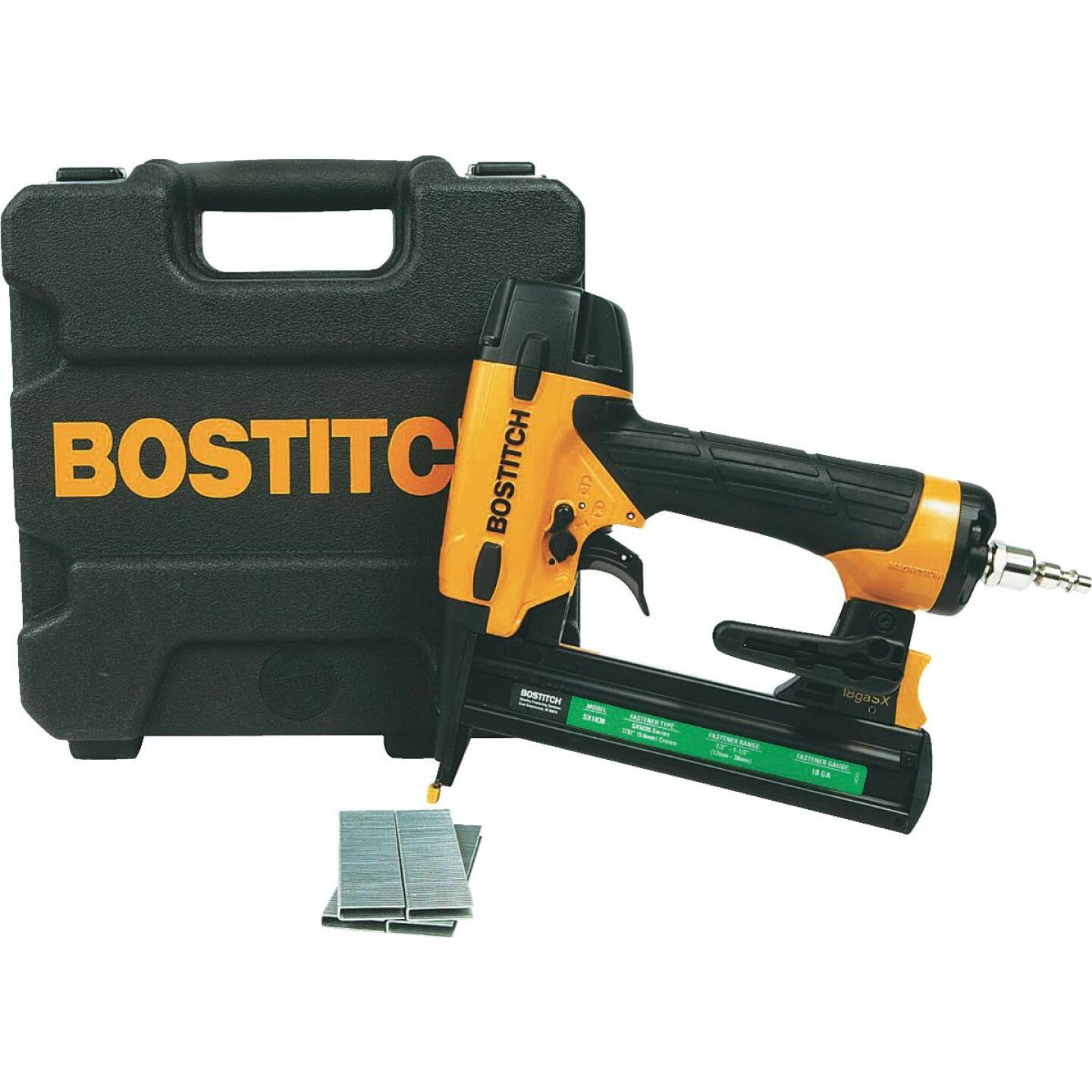 Bostitch 18-Gauge 7/32 In. Crown 1-1/2 In. Finish Stapler Kit Image 1