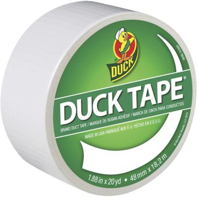 Duck Tape 1.88 In. x 20 Yd. Colored Duct Tape, White