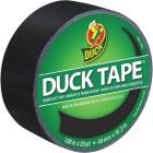 Duck Tape 1.88 In. x 20 Yd. Colored Duct Tape, Black Image 1