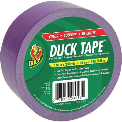 Duck Tape 1.88 In. x 20 Yd. Colored Duct Tape, Purple