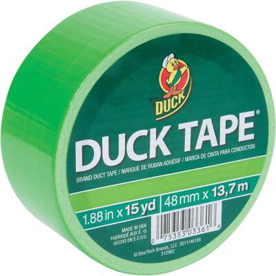 Duck Tape 1.88 In. x 15 Yd. Colored Duct Tape, Neon Lime
