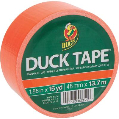 Duck Tape 1.88 In. x 15 Yd. Colored Duct Tape, Neon Orange