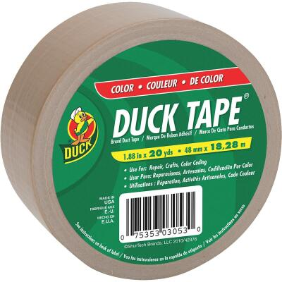 Duck Tape 1.88 In. x 20 Yd. Colored Duct Tape, Beige