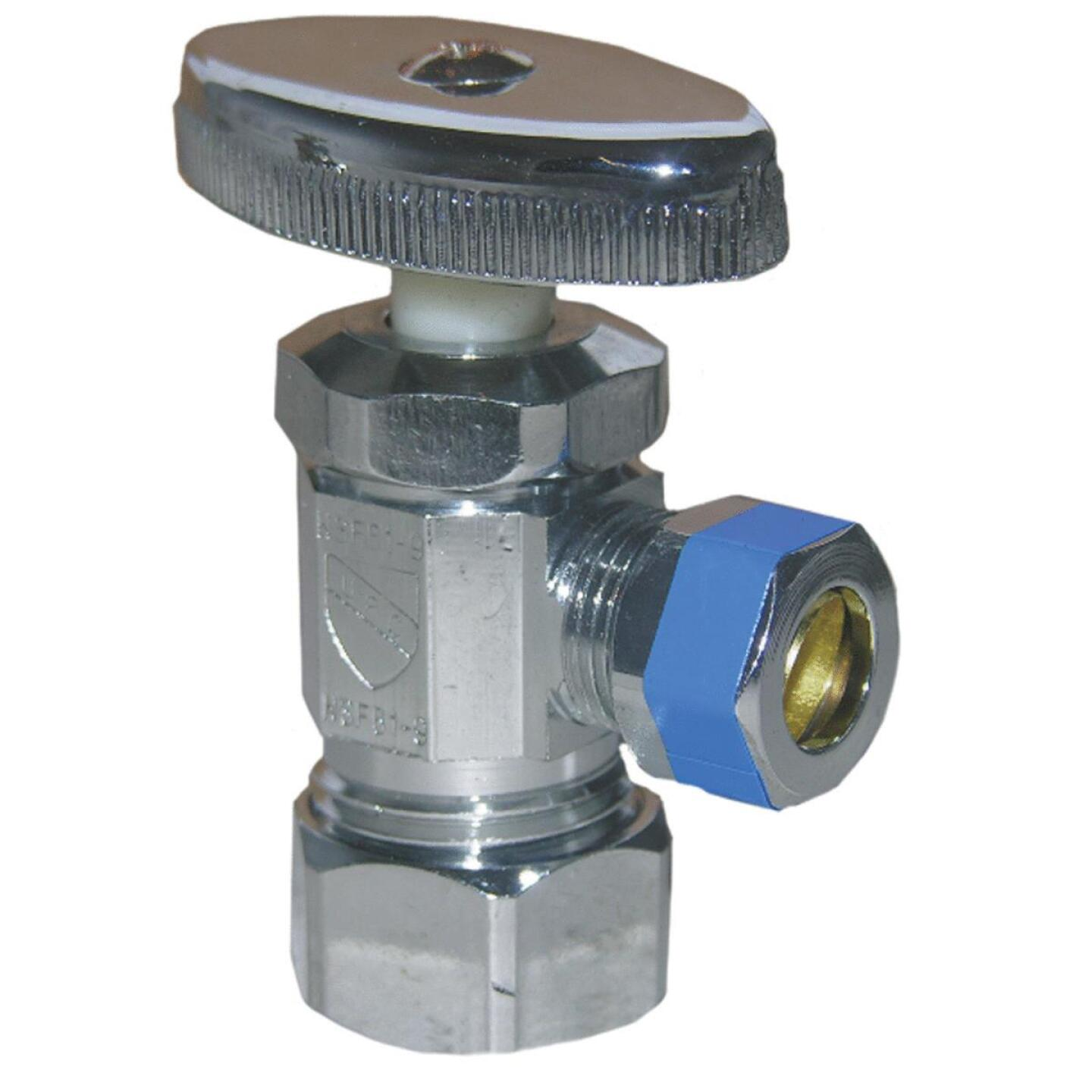 Lasco 5/8 In. Comp Inlet x 3/8 In. Comp Outlet Multi-Turn Style Angle Valve Image 1