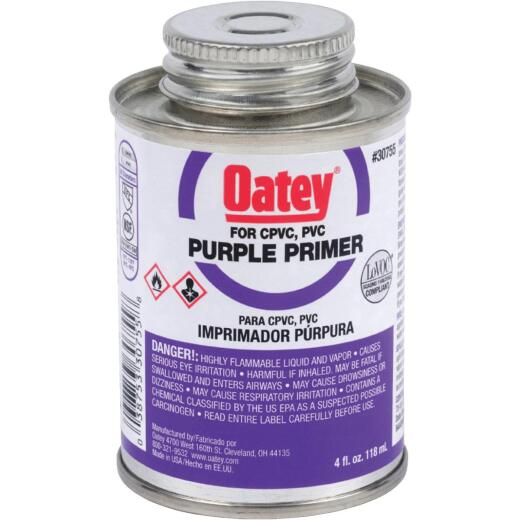 Oatey 4 Oz. Purple Pipe and Fitting Primer for PVC/CPVC