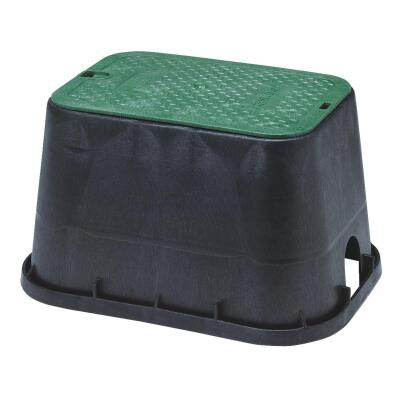 National Diversified 14 In. x 19 In. Standard Rectangular Black & Green Valve Box with Cover