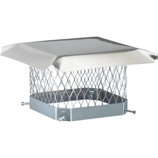Shelter 9 In. x 9 In. Stainless Steel Single Flue Chimney Cap