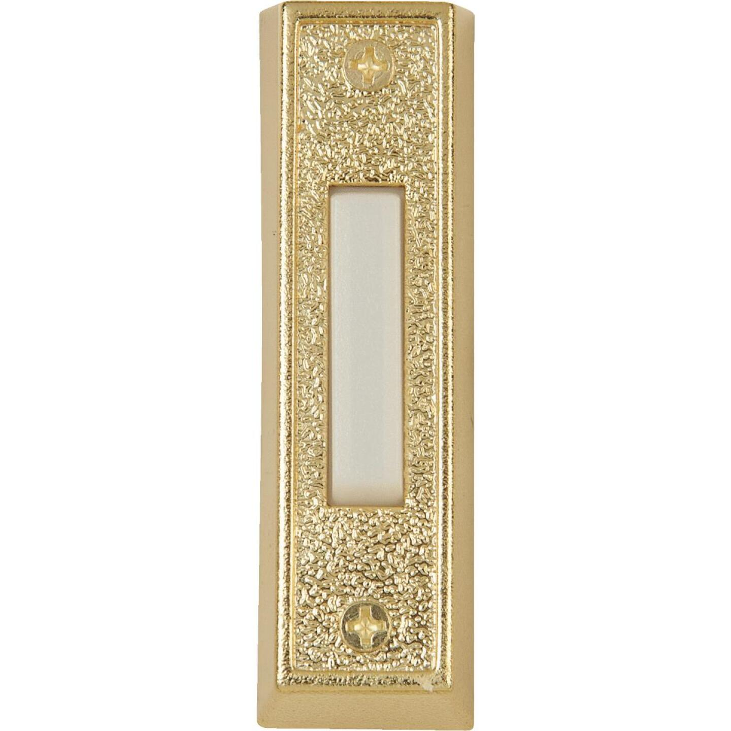IQ America Wired Gold Plastic Lighted Doorbell Push-Button Image 1