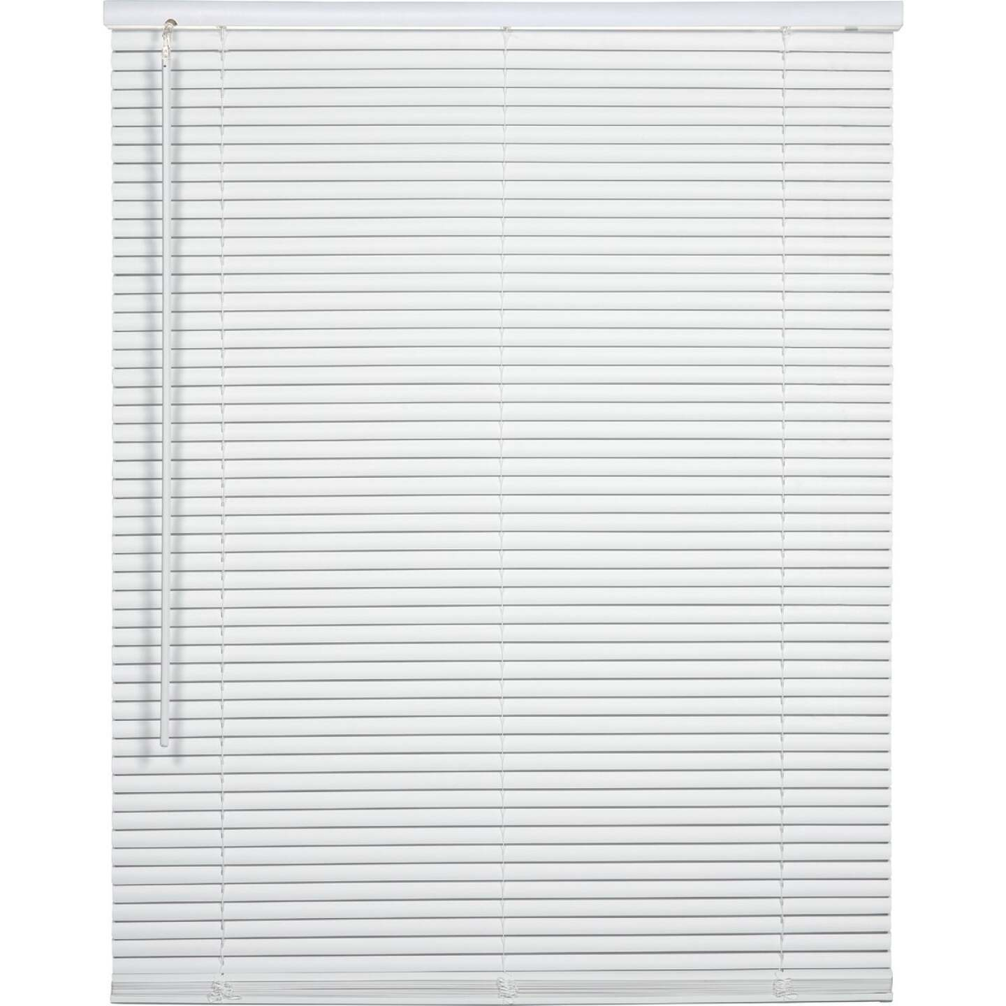 Home Impressions 26 In. x 64 In. x 1 In. White Vinyl Light Filtering Cordless Mini Blind Image 1