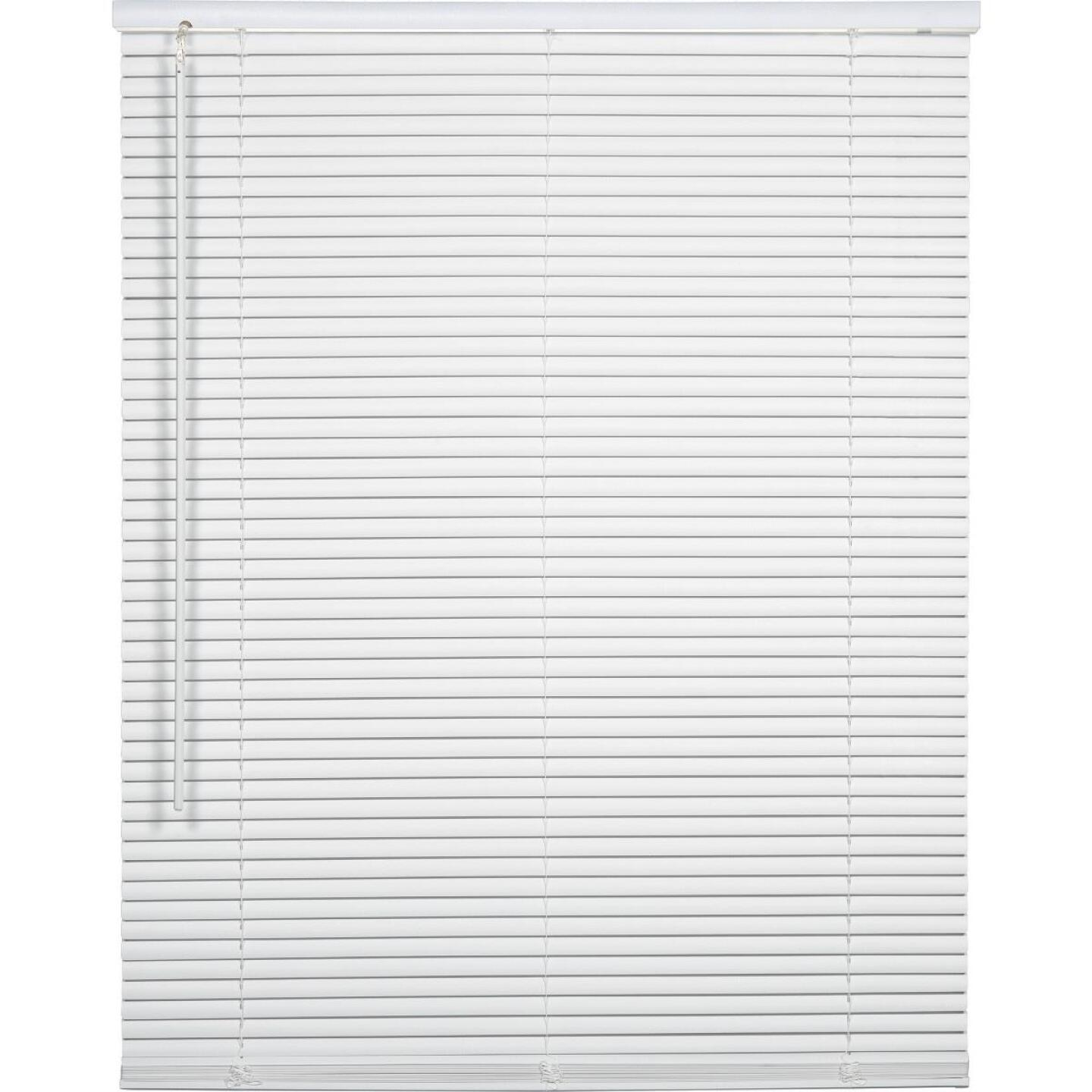 Home Impressions 32 In. x 72 In. x 1 In. White Vinyl Light Filtering Cordless Mini Blind Image 1