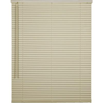 Home Impressions 23 In. x 42 In. x 1 In. Vanilla Vinyl Light Filtering Cordless Mini Blind