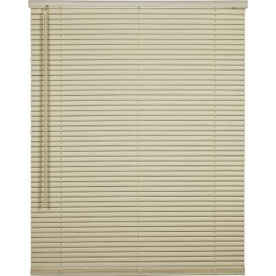 Home Impressions 70 In. x 64 In. x 1 In. Vanilla Vinyl Light Filtering Cordless Mini Blind