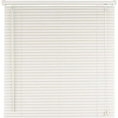 Home Impressions 23 In. x 72 In. White Vinyl Light Filtering Corded Mini-Blinds