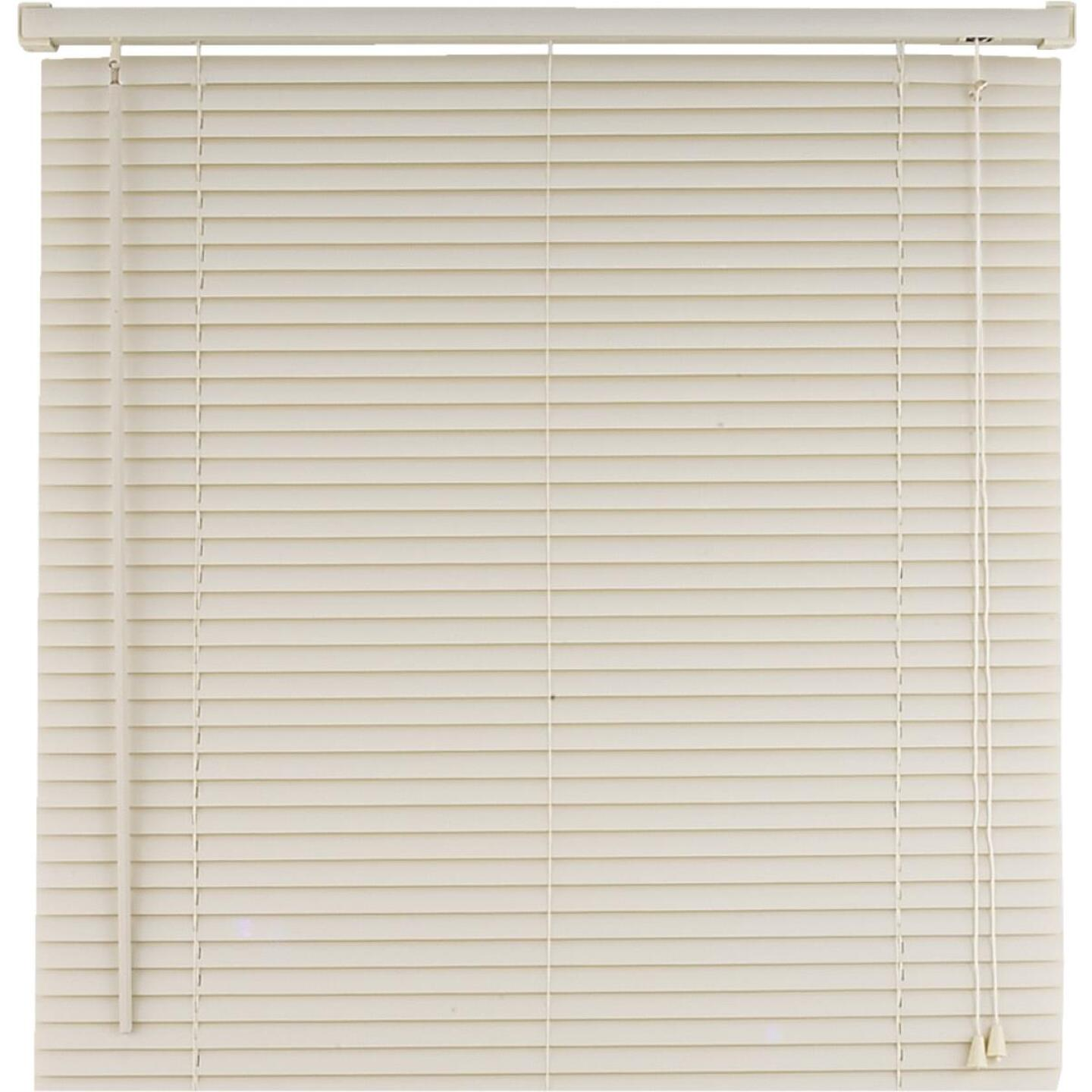 Home Impressions 35 In. x 64 In. Alabaster Vinyl Light Filtering Corded Mini-Blinds Image 1