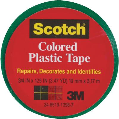 Scotch 3/4 In. Green Colored Plastic Tape