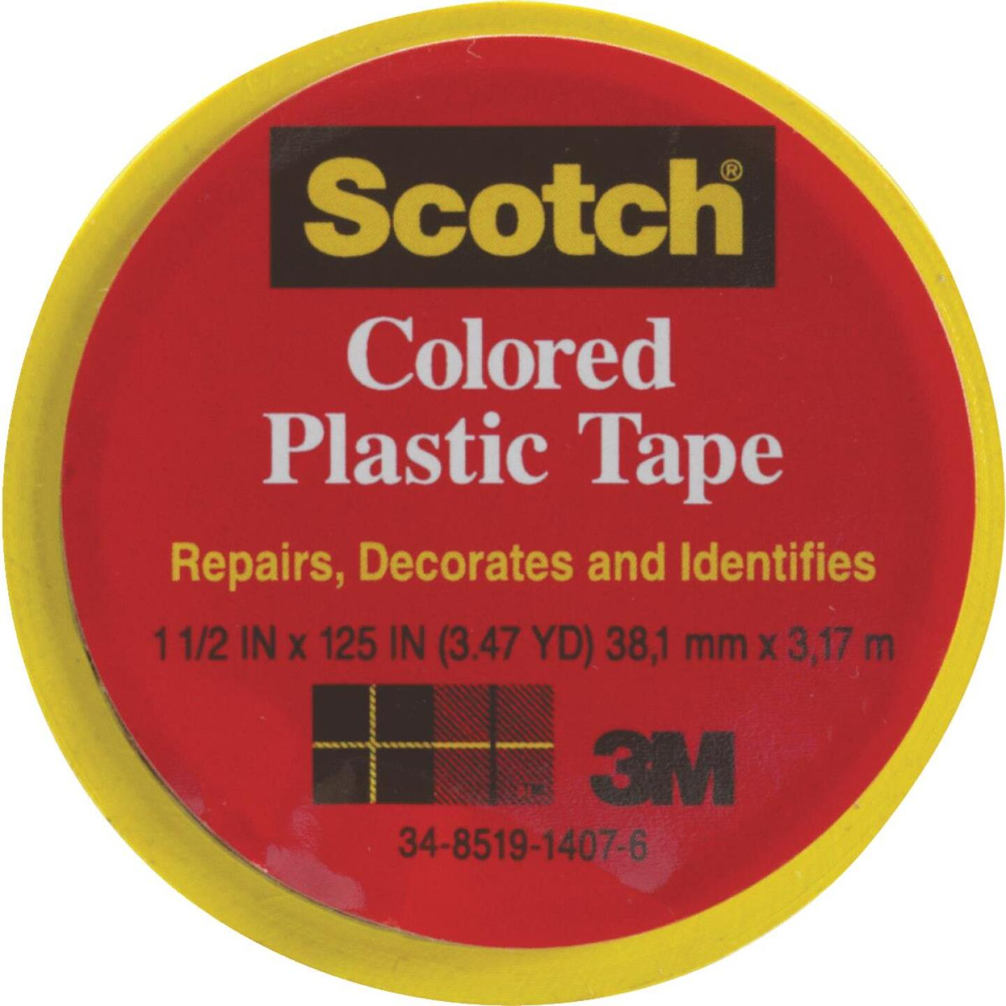 Scotch 1-1/2 In. Yellow Colored Plastic Tape Image 1