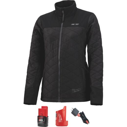 Milwaukee M12 Large Black Cordless Ladies Heated Jacket Kit