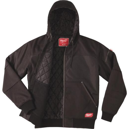 Milwaukee Gridiron Large Black Polyester Hooded Jacket