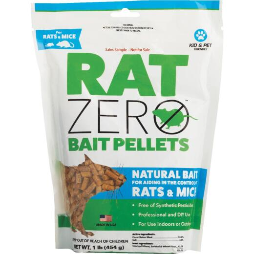 Rat Zero Pellet Rat And Mouse Killer, 1 Lb.