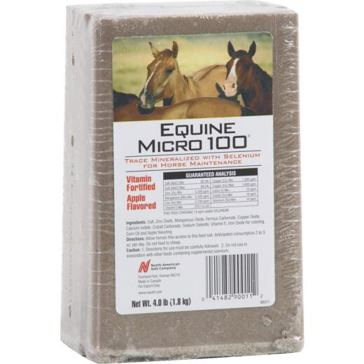 American Stockman Equine Micro 100 4 Lb. Apple Flavored Horse Block