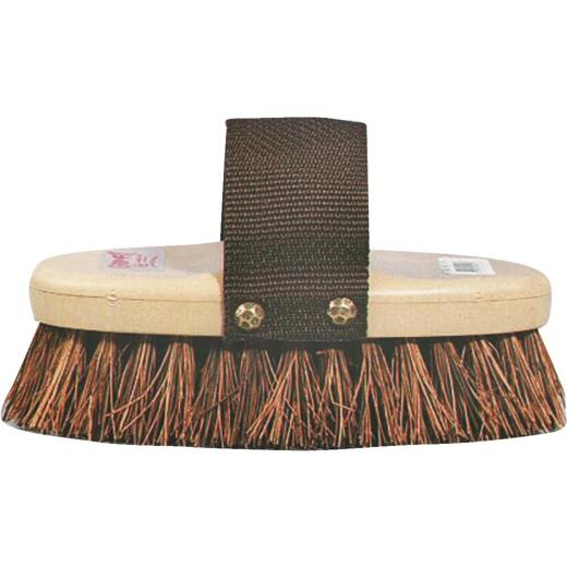 Decker Palmyra Fiber Bristles 1-1/4 In. Trim Size Cowboy Style Horse Grooming Brush