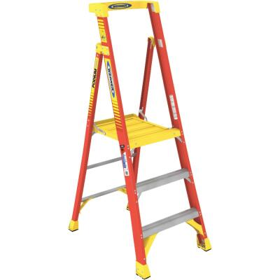 Werner 9 Ft. Reach Fiberglass Podium Ladder with 300 Lb. Load Capacity Type IA Ladder Rating