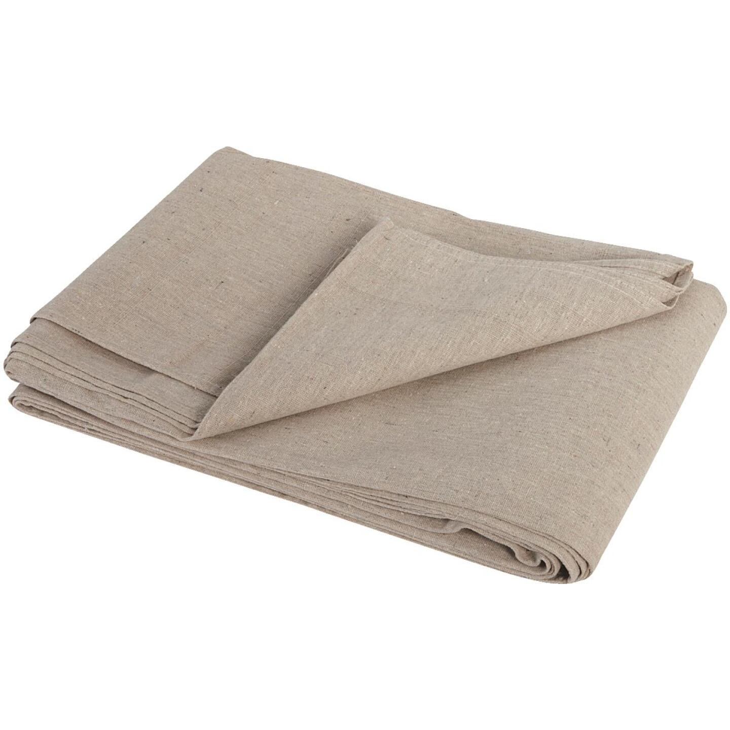 Trimaco Canvas 4 Ft. x 15 Ft. Two Layer Drop Cloth Image 2