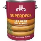 Duckback SUPERDECK VOC Translucent Log Home Oil Finish, Amber Hue, 1 Gal. Image 1