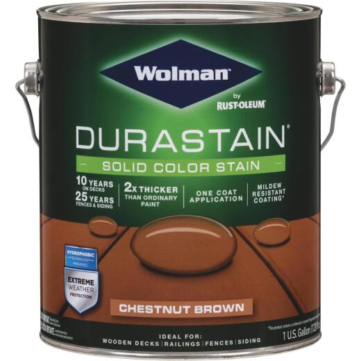 Wolman DuraStain 1 Gal. Chestnut Brown One Coat Solid Color Exterior Stain