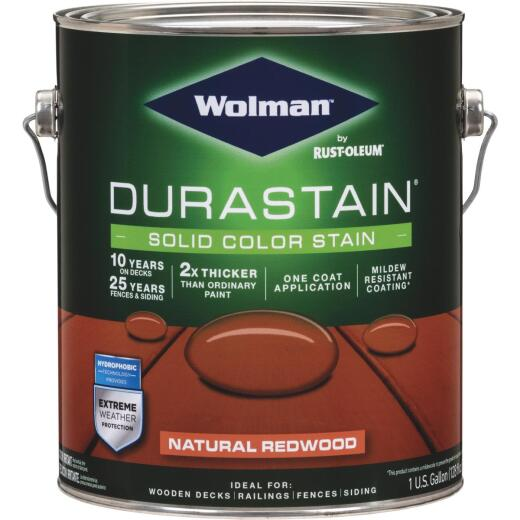Wolman DuraStain 1 Gal. Natural Redwood One Coat Solid Color Exterior Stain