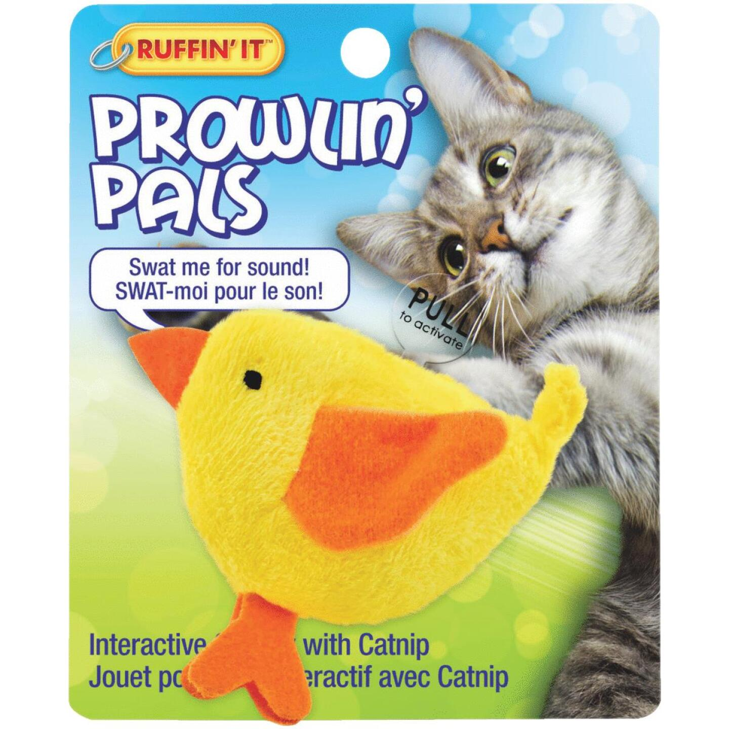 Westminster Pet Ruffin' It Prowlin' Pals Plush Cat Toy Image 2