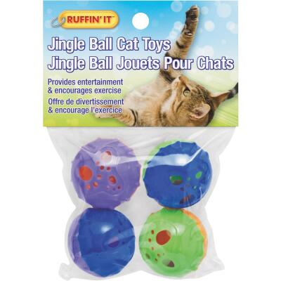 Westminster Pet Ruffin' it Ball Cat Toy (4-Pack)