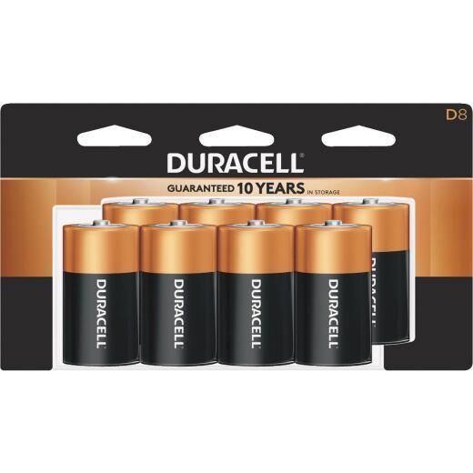 Duracell CopperTop D Alkaline Battery (8-Pack)