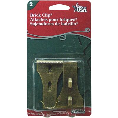 Adams Antique Metal Brick Light Clips (2-Pack)