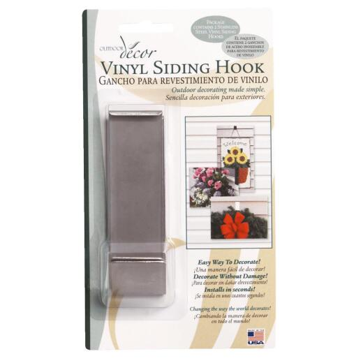 Outdoor Decor Lip-Hook Vinyl Siding Hook (2-Pack)