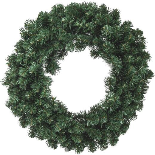 Gerson 30 In. 50-Bulb Color Changing LED Balsam Pine Prelit Wreath