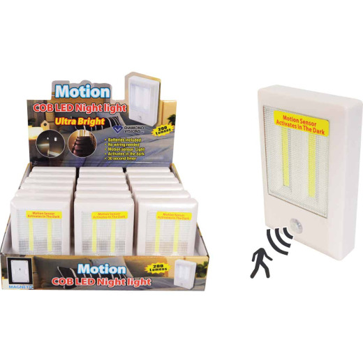 Diamond Visions White Battery Operated Motion Activated COB LED Night Light