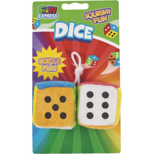 Fun Express Mini Plush Dice